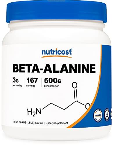 Nutricost Beta Alanine Powder 500 Grams (1.1lbs) - Pure Beta Alanine, Gluten Free & Non-GMO