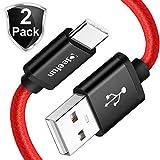 CLEEFUN USB C Kabel Schnellladekabel [1,8 M X 2] 3A Nylon USB Type C Ladekabel Daten Sync für Sony Xperia 10 XA1 XA2/ Ultra, 10 Plus, X Compact, XZ XZ1 XZ2 /Premium, Samsung Galaxy S10 S9 S8 /Plus