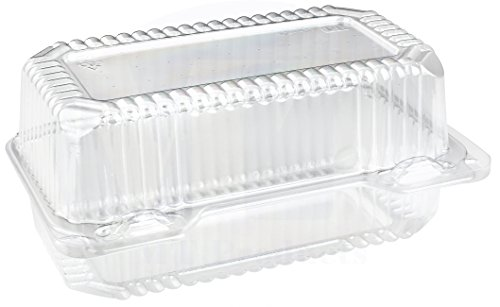 Disposable Sturdy Plastic Hinged Loaf Containers - Durable Small Hoagie Container – Made in The USA by MT Products (Pack of 40)