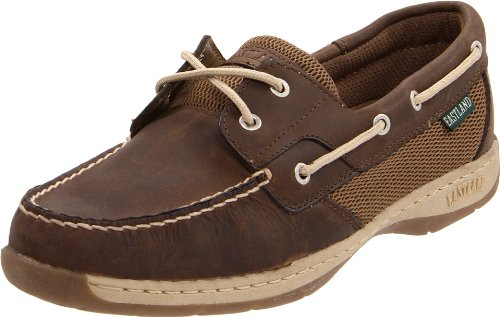 Eastland womens Solstice flats shoes, Bomber Brown, 8.5 Wide US