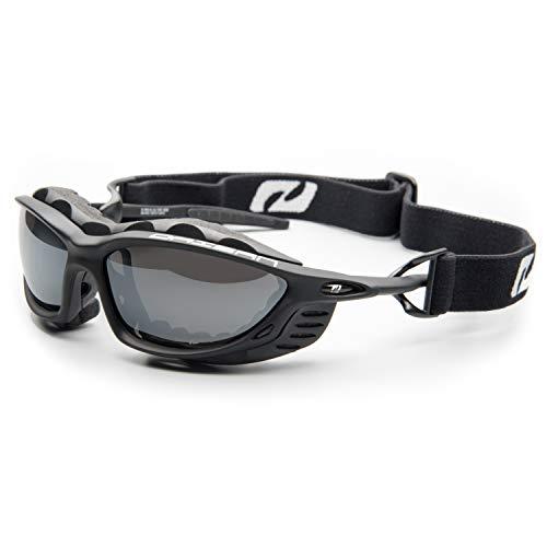 Daisan Alpin Gletscherbrille Sportbrille mit Band (schwarz matt)