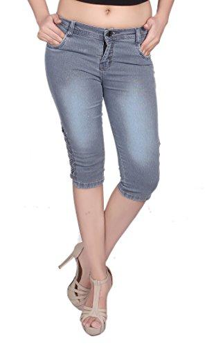 NIFTY Women's Slim Fit Capris (1301, Grey, 34)