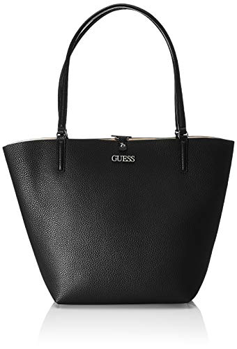 Guess Damen Alby Tote, Schwarz (Black), 15x30x43 centimeters