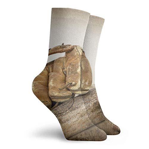 Tammy Jear Männer Frauen Kleid Socken Ballbat Handschuh auf Holzstiefel Knie langen Schlauch für das Training