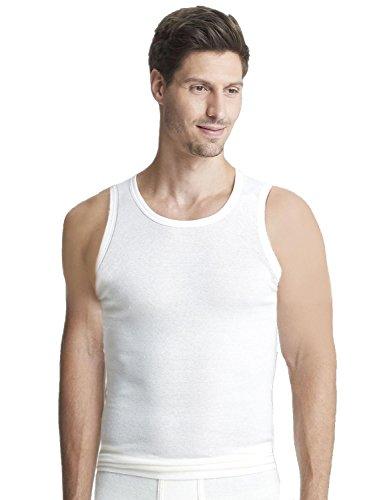 Susa Herren Thermounterwäsche - Oberteile Angora Unterhemd s8010040, Einfarbig, Gr. Large, weiß (wollweiß s122)