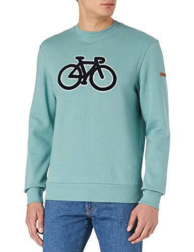 Springfield Sudadera Caja Bici Reconsider, Verde, XS para Hombre