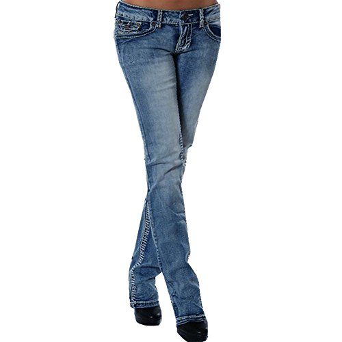 FRAUIT Damen Stickerei Skinny Denim Jeans Hose Stretch Slim Fitness Jeans Leggins Röhrenjeans Bleistifthose Jeans High Waist Slim Leggings Röhrenjeans Verschleißfest Bequem Mode Elegant Jeans