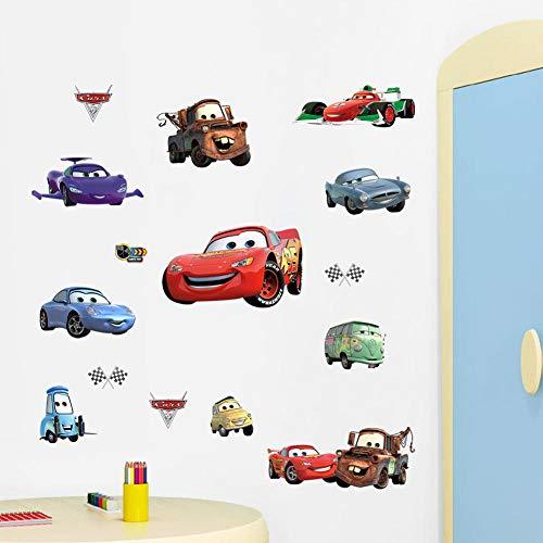 Auto Geschichte Wandaufkleber Kinderzimmer Wandaufkleber 45 * 60PVC Dekoration Removable-45 * 60