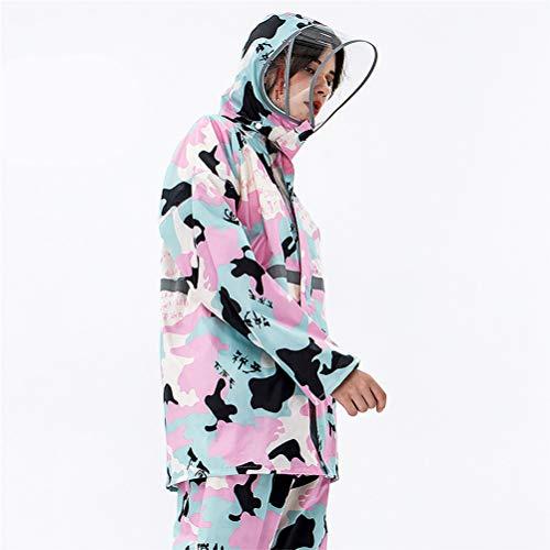 AP.DISHU Chaqueta Impermeable para Hombre o Mujer con Capucha, diseño camuflado de,H,M