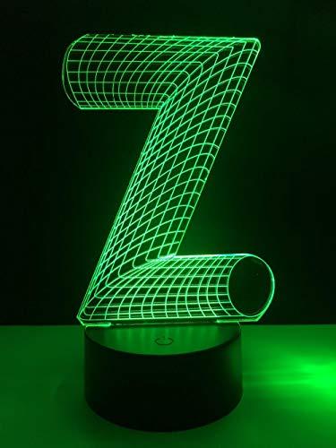 LXXYD 3D Vision Lights Optische Täuschung Führt Nachtlichter - 3D Bunte Täuschung Worte Usb Touch Desk Tabellen Führende Glühbirnen Leuchtende Kinder Schlafen Weihnachten Neu Geburtstag Spielzeu