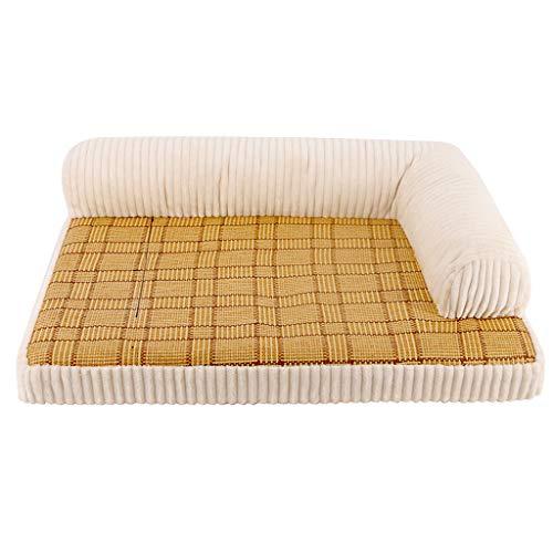 Liuyu Voliere – Huis van het leven tweepersoonsbed nest oven universeel wasbaar van rotan mat spons zomer kleine honden kat bank mat 3 kleuren om uit te kiezen
