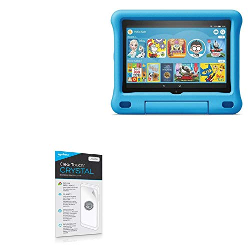 Protetor de tela BoxWave para Amazon Fire HD 8 Kids Edition (10ª geração 2020) [ClearTouch Crystal (pacote com 2)] Película de filme HD - Protege contra arranhões para Amazon Fire HD 8 Edição Infantil (10ª geração 2020)