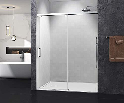 VERNBRIN Frameless Sliding Shower Door with Soft-Closing System, 56