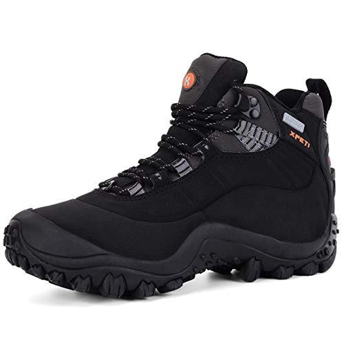 XPETI Thermator Damen Wasserdicht Wanderstiefel,Trekkingschuhe Leicht Wanderschuhe Outdoorschuhe Mädchen Frauen Hiking Boots Women Sport Draussen,Schwarz EU 37.5