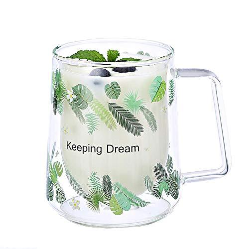 300ml de doble pared de vidrio tazas tazas tazas de té y...