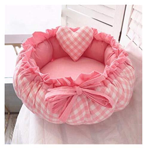 TAIYUAN Cuccia Pet Princess Style Sweety Pet Dog Bed Bed Cat Bed House Cushion Kennel Pens Divano Divano con Cuscino Sacco a Pelo Caldo Nuovo Arrivo 1 PZ Dormire (Color : 6, Size : S 40cm)