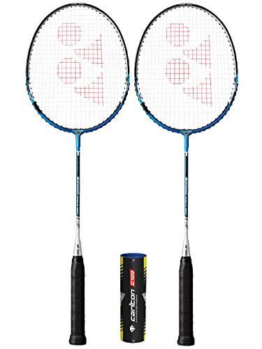 YONEX B7000MCM - Raqueta de bádminton (múltiples opciones) (2 raquetas + lanzaderas)