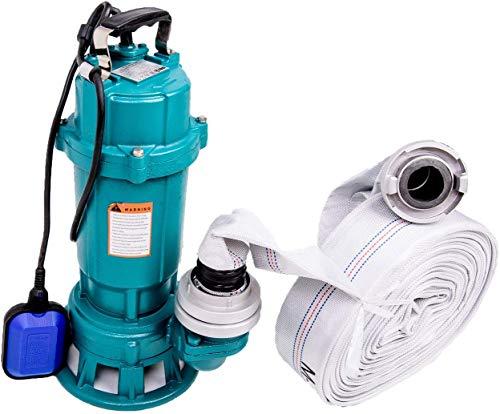 """Fäkalienpumpe IBO 550W mit Zerkleinerer + 2"""" Storz C + 40m Schlauch Pumpe Tauchpumpe Schwimmschalter Wasserpumpe Schmutzwasserpumpe mit Bauschlauch Schwimmer"""