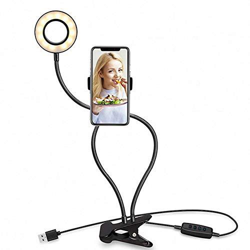 Dimmbares LED-Ringlicht Mit Ständer, Selfie, Vlog, Live-Stream, YouTube, Telefonvideo Mit 3 Lichtmodi Für Fotografie, Aufnahme