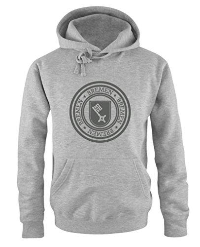 Comedy Shirts - Stadtwappen Bremen - Herren Hoodie - Grau/Grau Gr. L