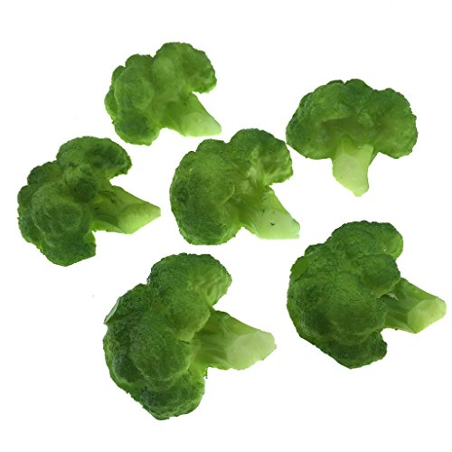 Gresorth 6pcs Artificial Lifelike Broccoli Fake Cauliflower Vegetable Home House Kitchen Cabinet Décor