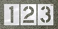 """c.h. Hanson–番号キット12pc。–ステンシルフォントサイズ6"""" x 4"""""""