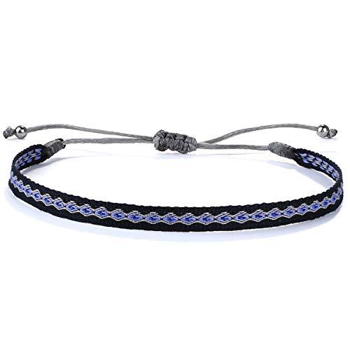 C·QUAN CHI Bracelet à Brins Bracelet Tissé pour Femmes Bracelets D'amitié Faits Main D'imperméables De Réglables Bracelet D'enroule Surfeur pour Bijoux Filles