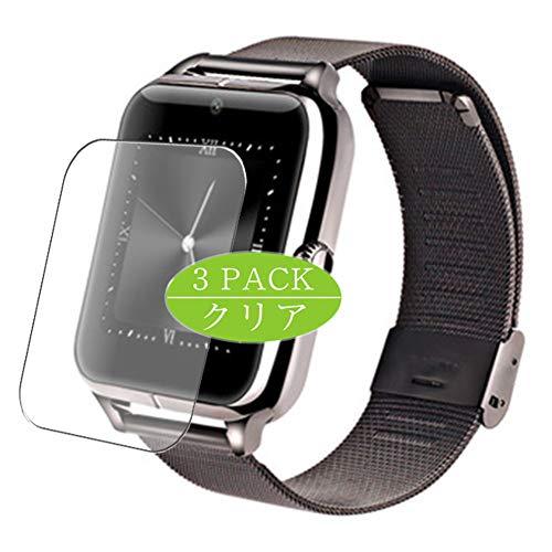 VacFun 3 Piezas HD Claro Protector de Pantalla para Smartwatch Smart Watch Z60, Screen Protector Sin Burbujas Película Protectora (Not Cristal Templado)