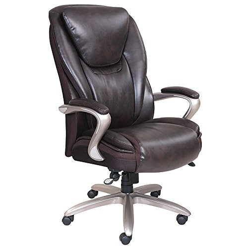 Serta Smart Layers Hensley Big and Tall Executive Chair, Brown