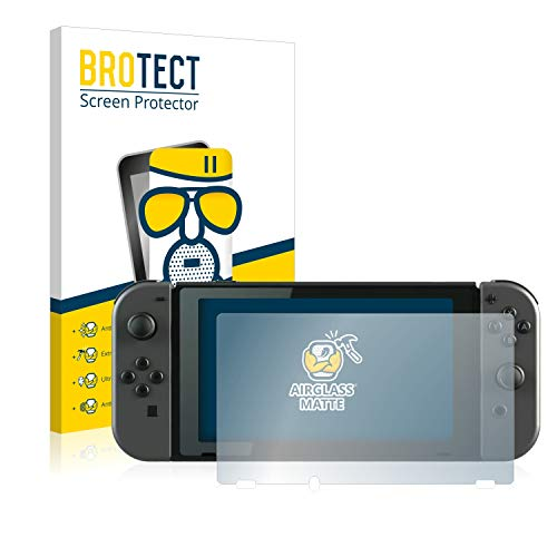 BROTECT Protector Pantalla Cristal Mate Compatible con Nintendo Switch Protector Pantalla Anti-Reflejos...