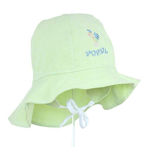 Nenè Isabel - Gorro de sol para niña con protección UV, talla 6-9 meses Verde 6-12 Meses
