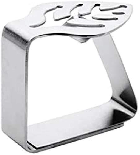 LACOR 61023 Tischtucklammer rostfrei 4-teilig, Silber, einheitsgröße