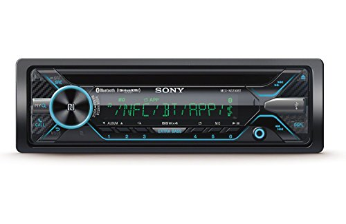 Sony mex-xb100bt Single DIN Potencia Bluetooth In-Dash CD/Am/FM/SiriusXM Listo Coche Estéreo con 160 W RMS (CEA Potencia Nominal) Integrado Amplificador de 4 Canales