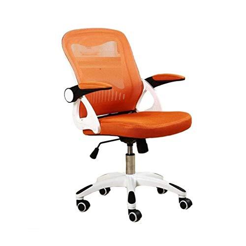 Ygqbgy Silla de Oficina giratoria Adecuada for Soporte Lumbar de Malla Transpirable Silla de Altura Ajustable (Color : Orange)