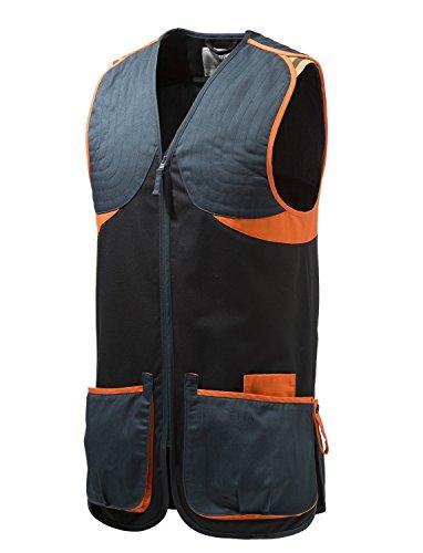 BERETTA Full Cotten - Chaleco para Tiro para Hombre, Color Negro/Naranja, tamaño Large