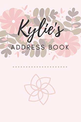 Address Book   Kylie: 6 x 9 Inches   208 Entries   104 Pages   Contact Book   Alphabetical with Letter on Each Page   Name   Address   Phone Numbers   Email   Notes