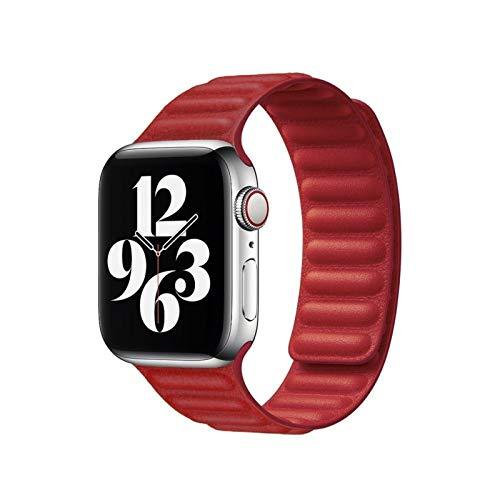 ZLRFCOK Correa de cuero para Apple Watch Band 44mm 40mm para iWatch series 6 SE 5 4 3 2 1 pulseras 42mm 38mm pulsera pulsera