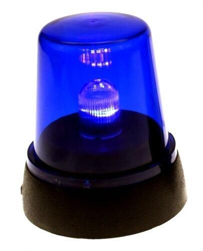 LED-Signallampe * POLIZEI * in Blau zur Dekoration // Rundumlicht Deko Motto Geburtstag