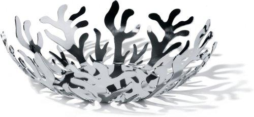 Alessi ESI01/29 Mediterraneo Obsthalter aus Edelstahl, epoxidharzlackiert silber, Ø 29 cm