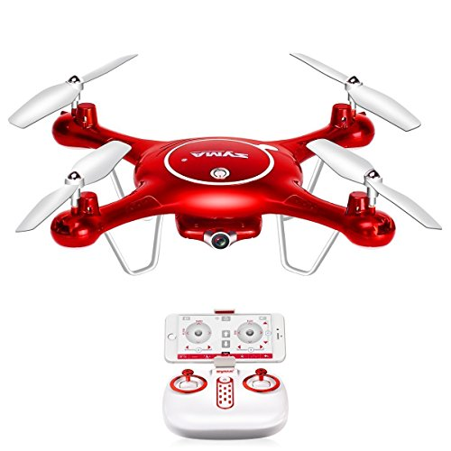 Mattheytoys Syma X5UW Drone FPV in Tempo Reale di WiFi videocamera HD Volo-Track Funzione Alta Attesa RC Quadcopter RTF