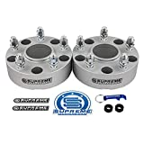 Supreme Suspensions - 4pc 1.5' Hub Centric Wheel Spacers for 2012-2018 Dodge Ram 1500 2WD 4WD 5x5.5' (5x139.7mm) BP with M14x1.5 Studs 77.8mm Center Bore w/Lip [Black]
