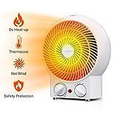 Aigostar Airwin White 33IEK - Radiateur soufflant, air chaud et froid, 2000W. Régulateurs température et puissance. Protection contre la surchauffe. Couleur blanc. Design exclusif.