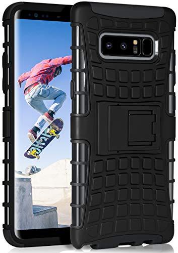ONEFLOW Tank Hülle kompatibel mit Samsung Galaxy Note8 - Hülle Outdoor stoßfest, Handyhülle mit Ständer, Handy Hardcase Panzerhülle, Schwarz