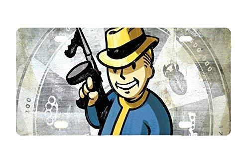Cara King Vault Boy Fallout Rahmen om Metallplatte für Autoteller 30,5 x 15,2 cm