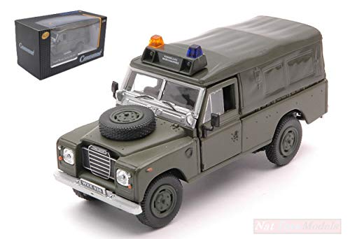 NEW CARARAMA CA4-51741 Land Rover Serie III 109 Soft Top Militar Green 1:43 Die Cast