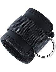 Fitness D-ring enkel riem gesp lichaam gebouw weerstand band gym dij been enkel manchetten Power Weight Lifting Fitness touw BCVBFGCXVB (zwart)