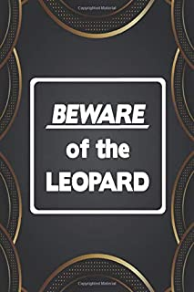 Beware Of The Leopard: 110 Lined Pages for a Dream Diary or Journaling, with Matte Cover Art for Women and Leopard Lovers