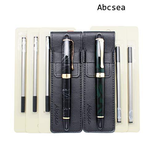 Abcsea 2 piezas Jinhao 450 plumas bolígrafos rollerball elegantes, bolígrafos fineliner de punta...