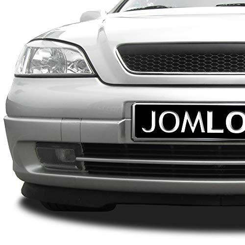 JOM Car Parts & Car Hifi GmbH 6320027MOE Kühlergrill ohne Emblem mit Chromrahmen und Wabengitter, schwarz
