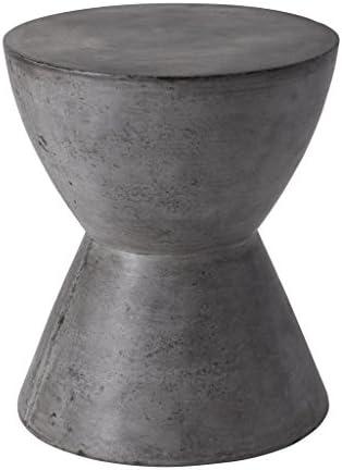 Best Sunpan Modern Logan End Table, Anthracite Grey